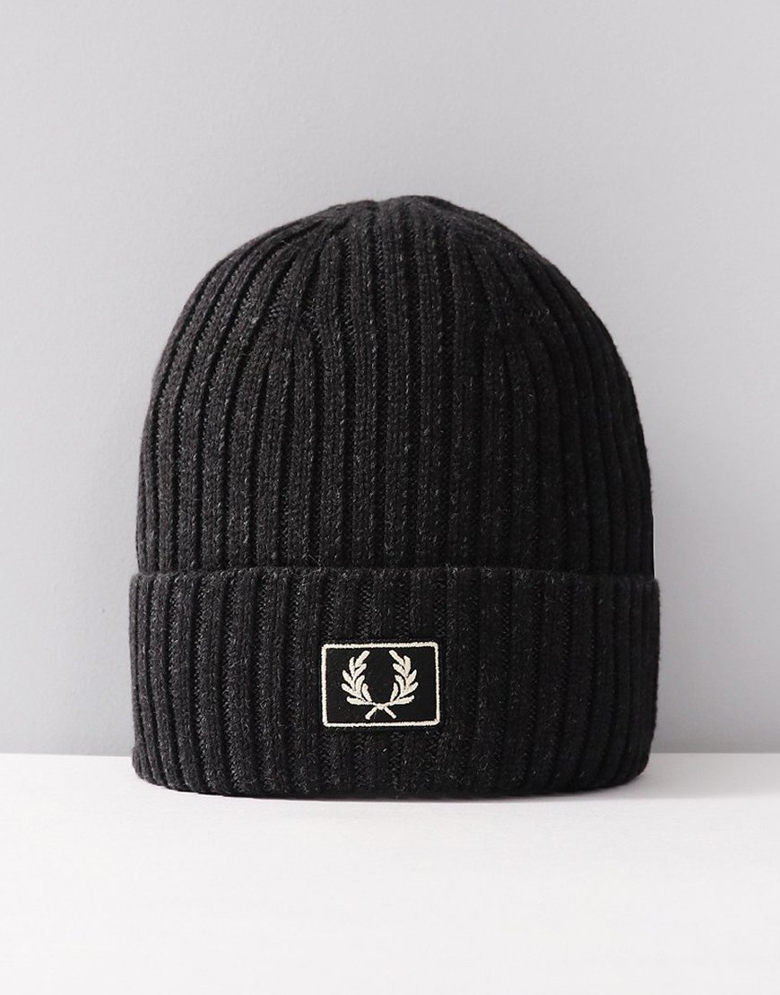 Fred Perry 2 Tone Knitted Hat Black