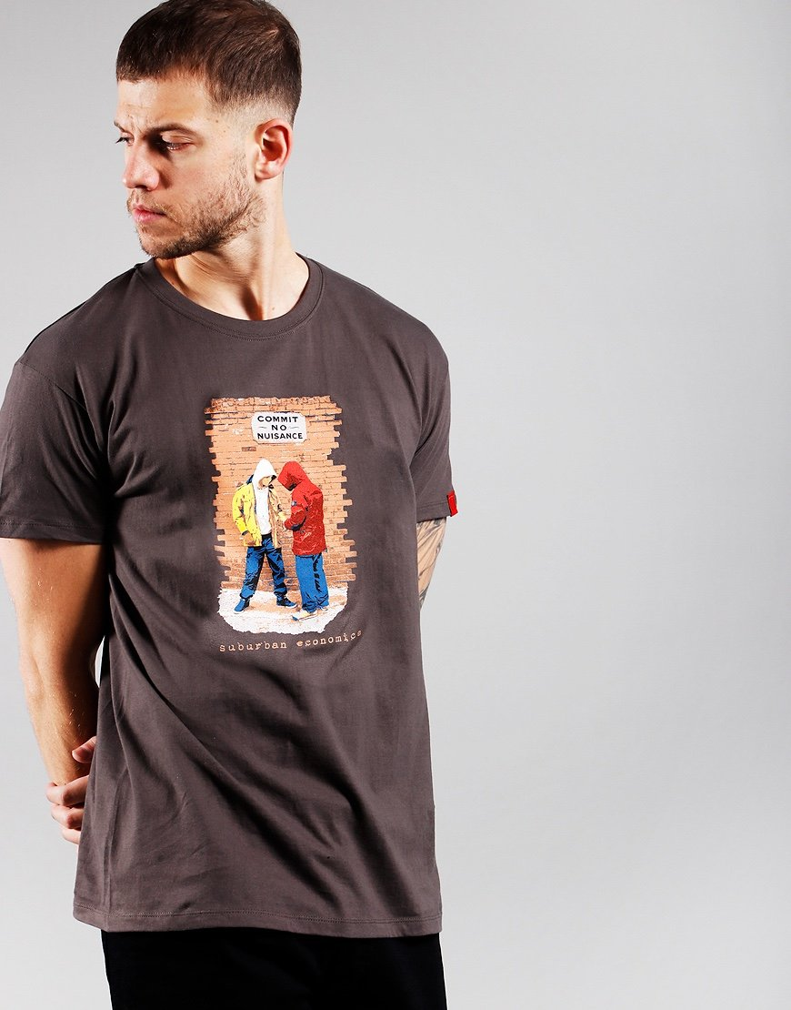 Eighties Casuals Commit No Nuisance T-Shirt Grey