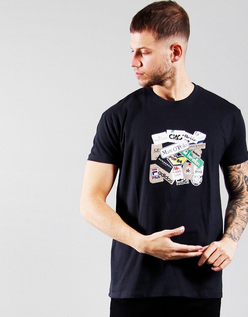 Eighties Casuals Labels T-Shirt Navy
