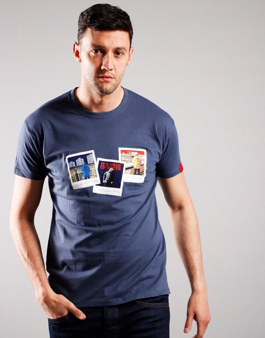 Eighties Casuals Polaroids T-Shirt Petrol