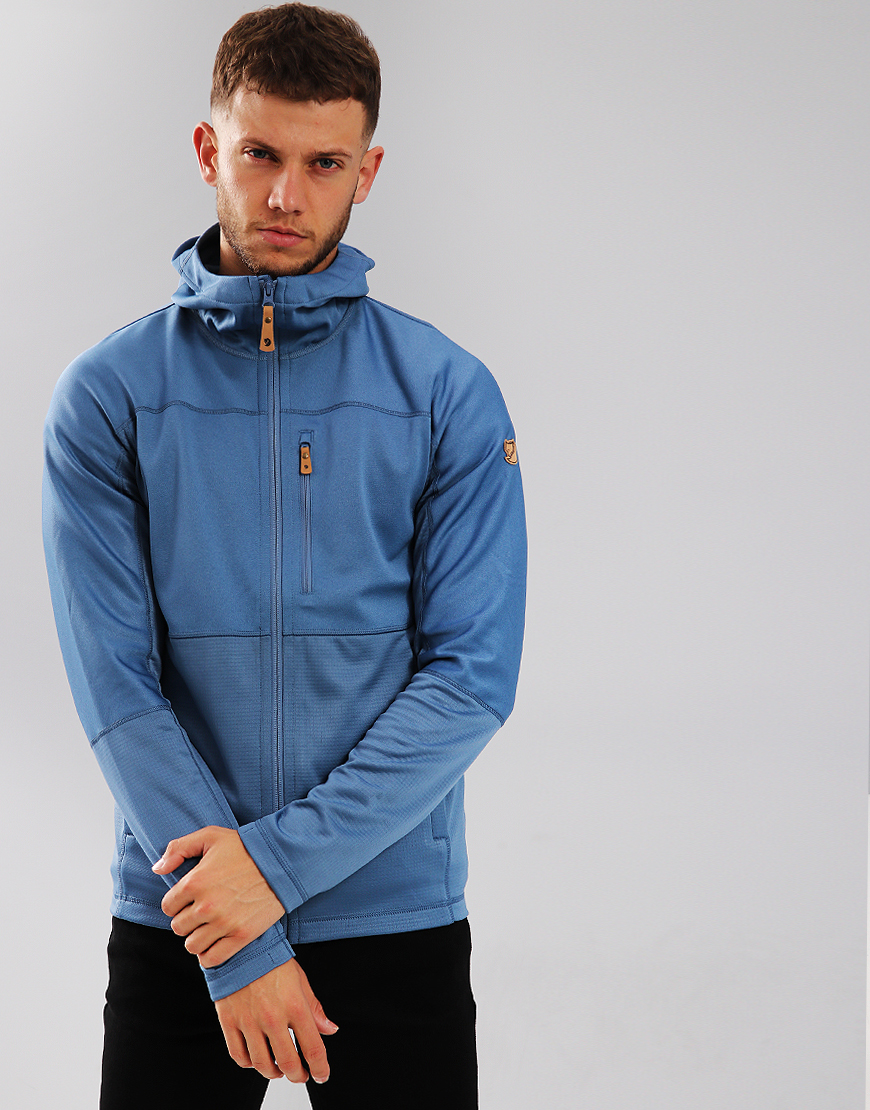 Fjällräven Abisko Trail Fleece Hoodie Blue  Ridge