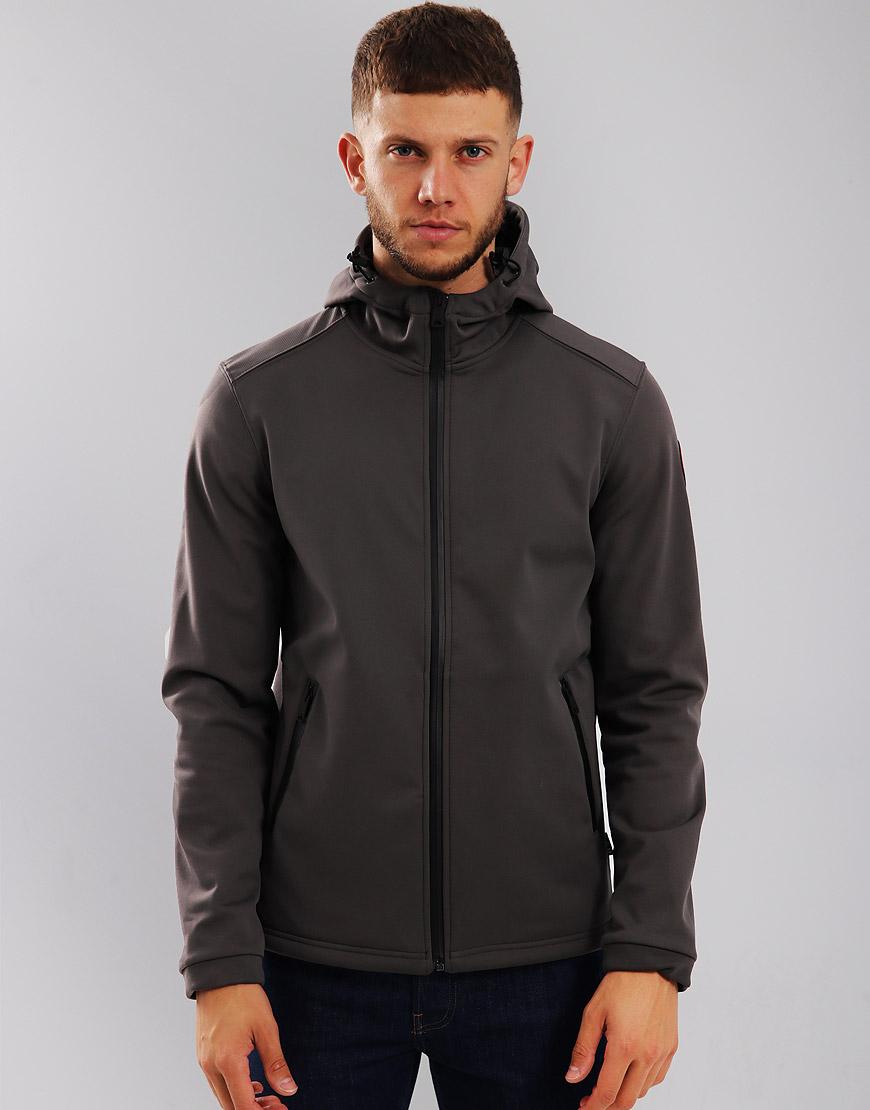 Napapijri Addison Soft Shell Jacket Dark Grey Solid