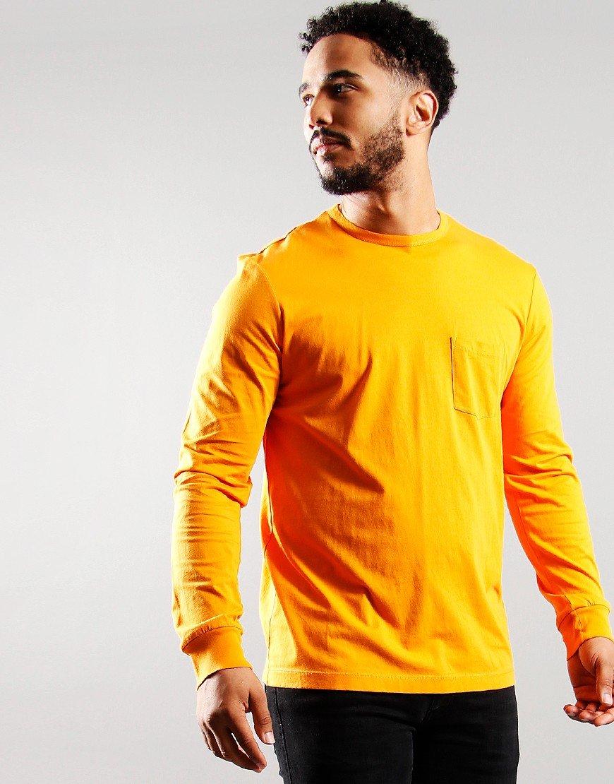 Albam Utility Graphic Long Sleeve T-shirt Dark Orange