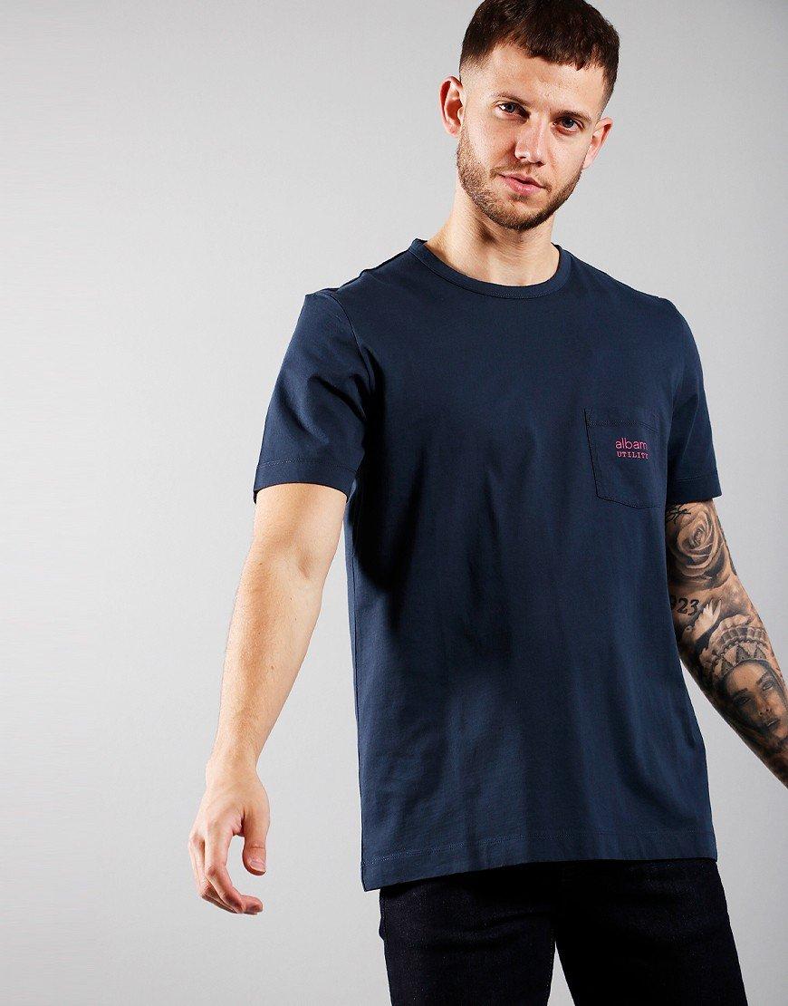 Albam Graphic Pocket T-shirt Navy