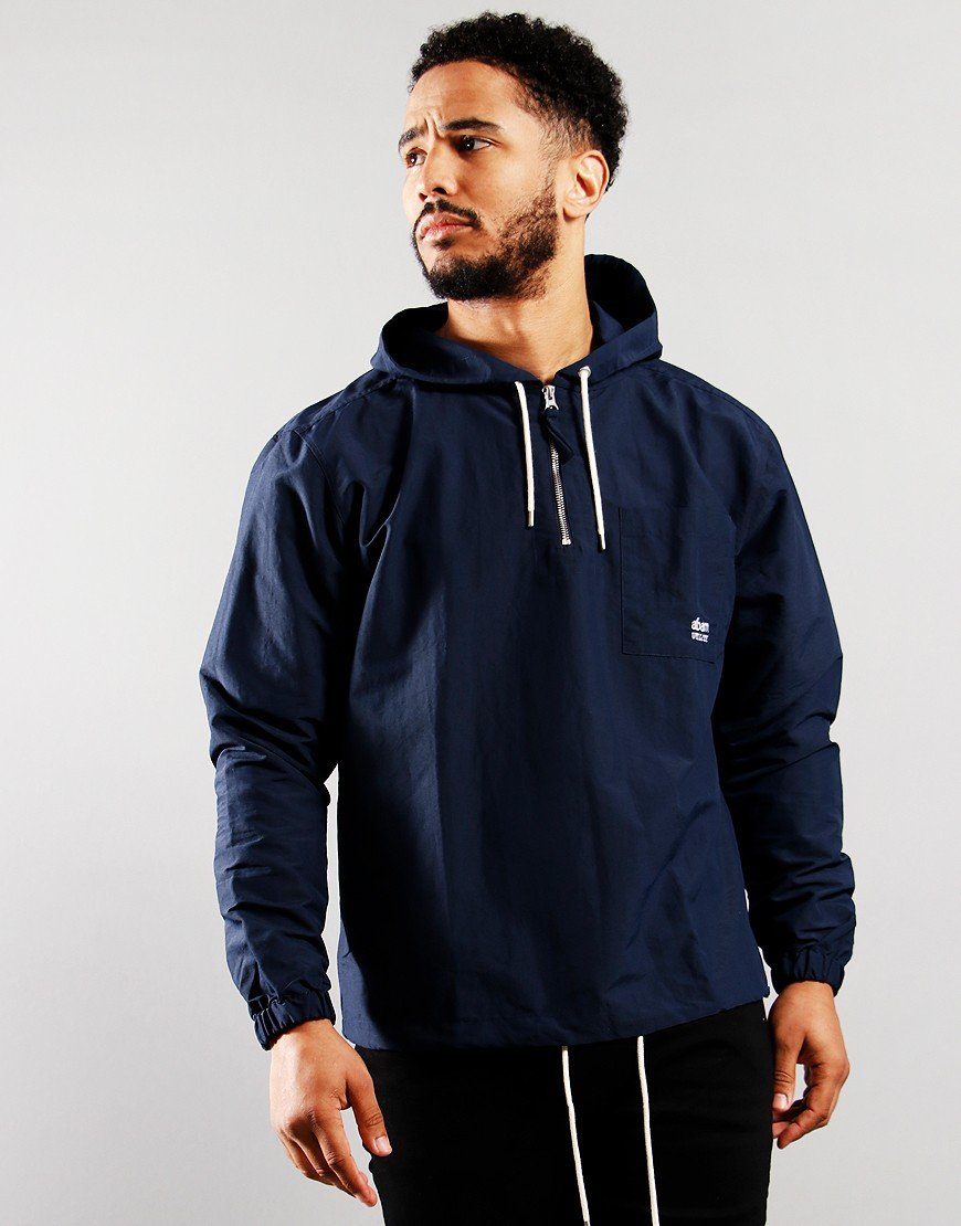 Albam Utility Nylon Hooded Overshirt Navy