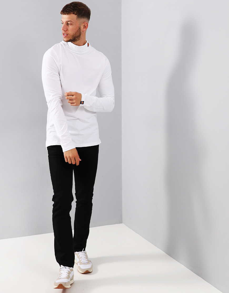 Ellesse Amica Roll Neck Top Optic White