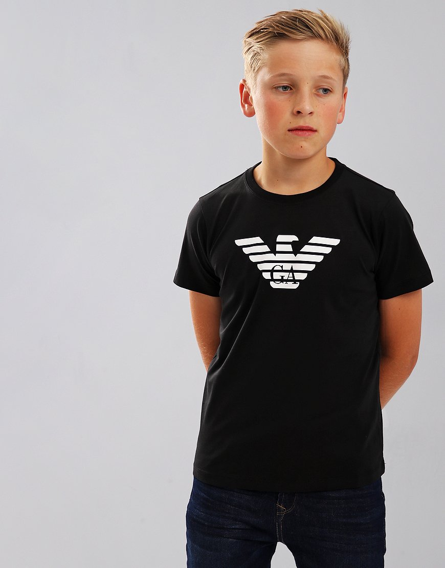 Armani Junior Logo T-Shirt Black