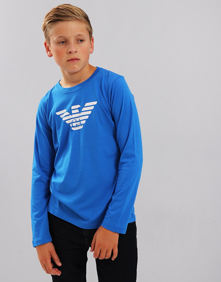 Armani Junior Long Sleeve T-Shirt Bluette