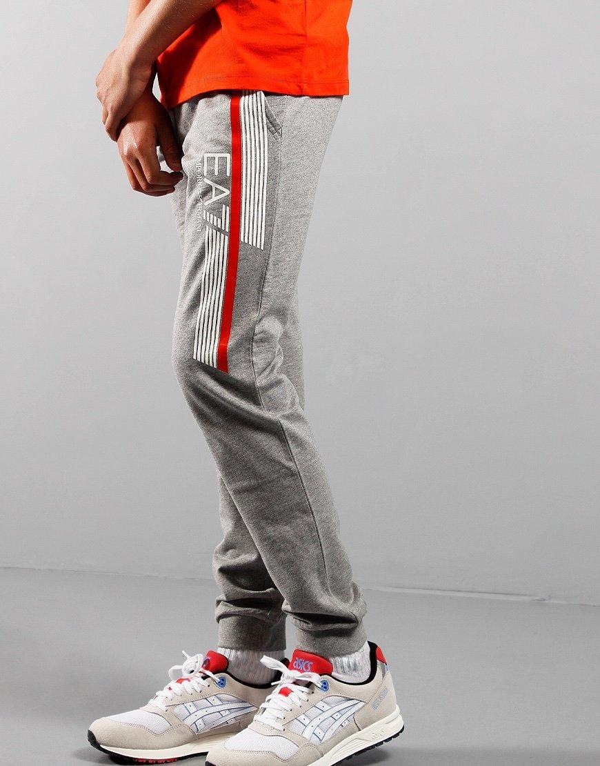EA7 Kids Track Pants Med Grey Melange
