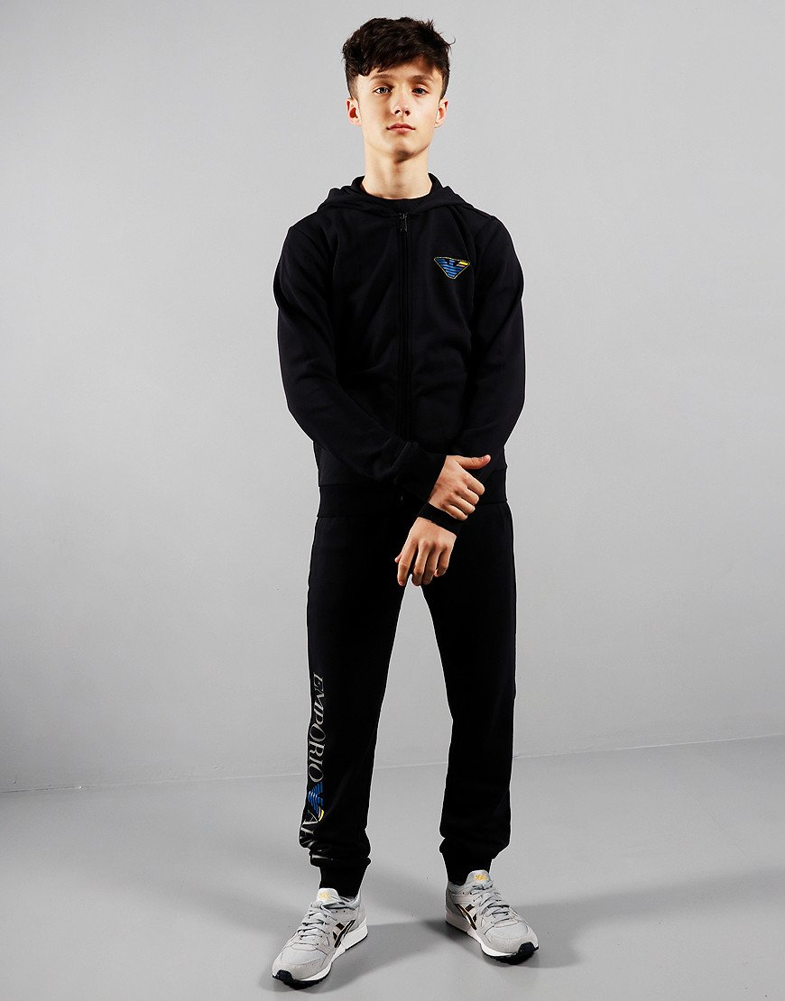 Armani Junior Full Tracksuit Navy