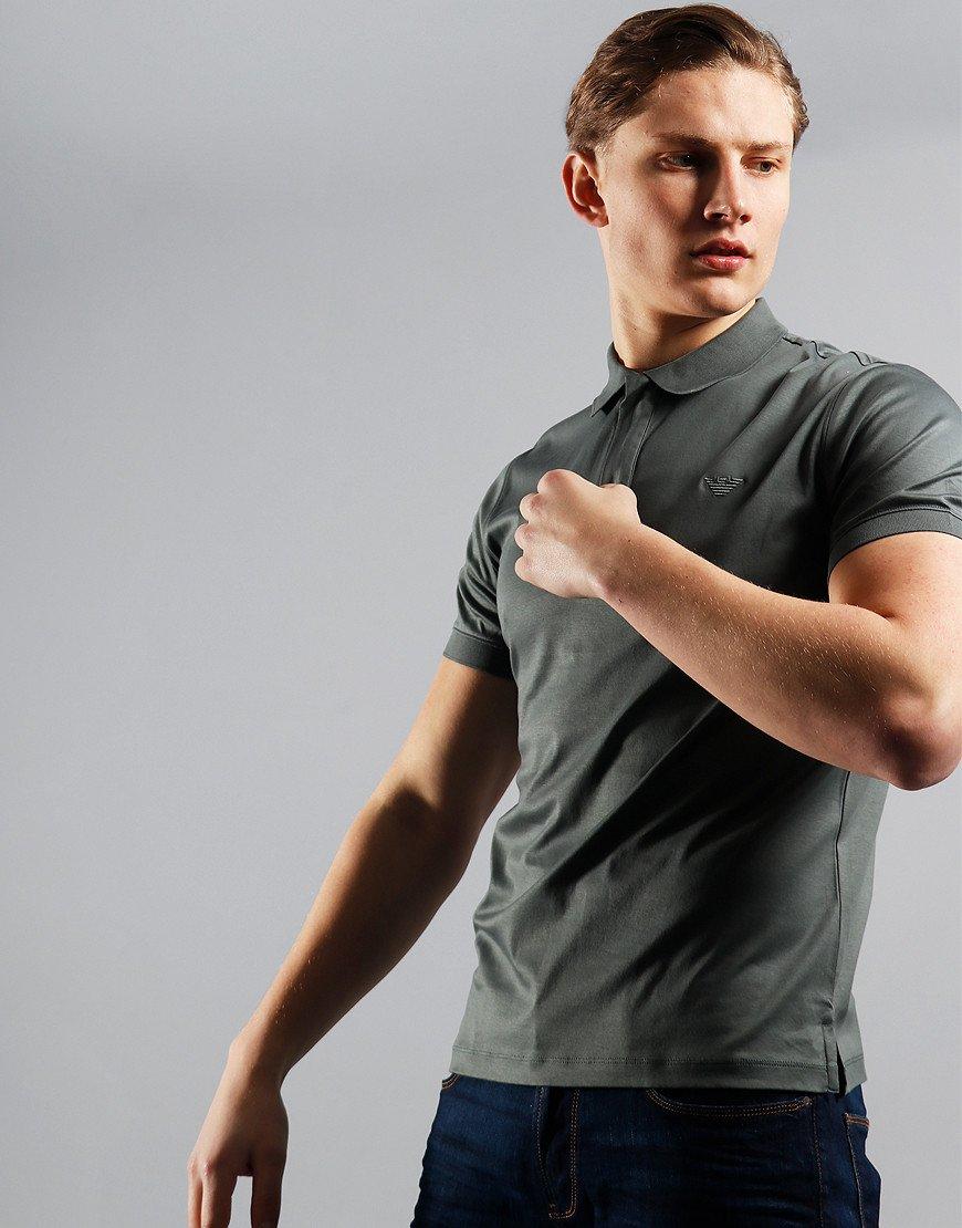 Emporio Armani Jersey Polo Shirt Stone
