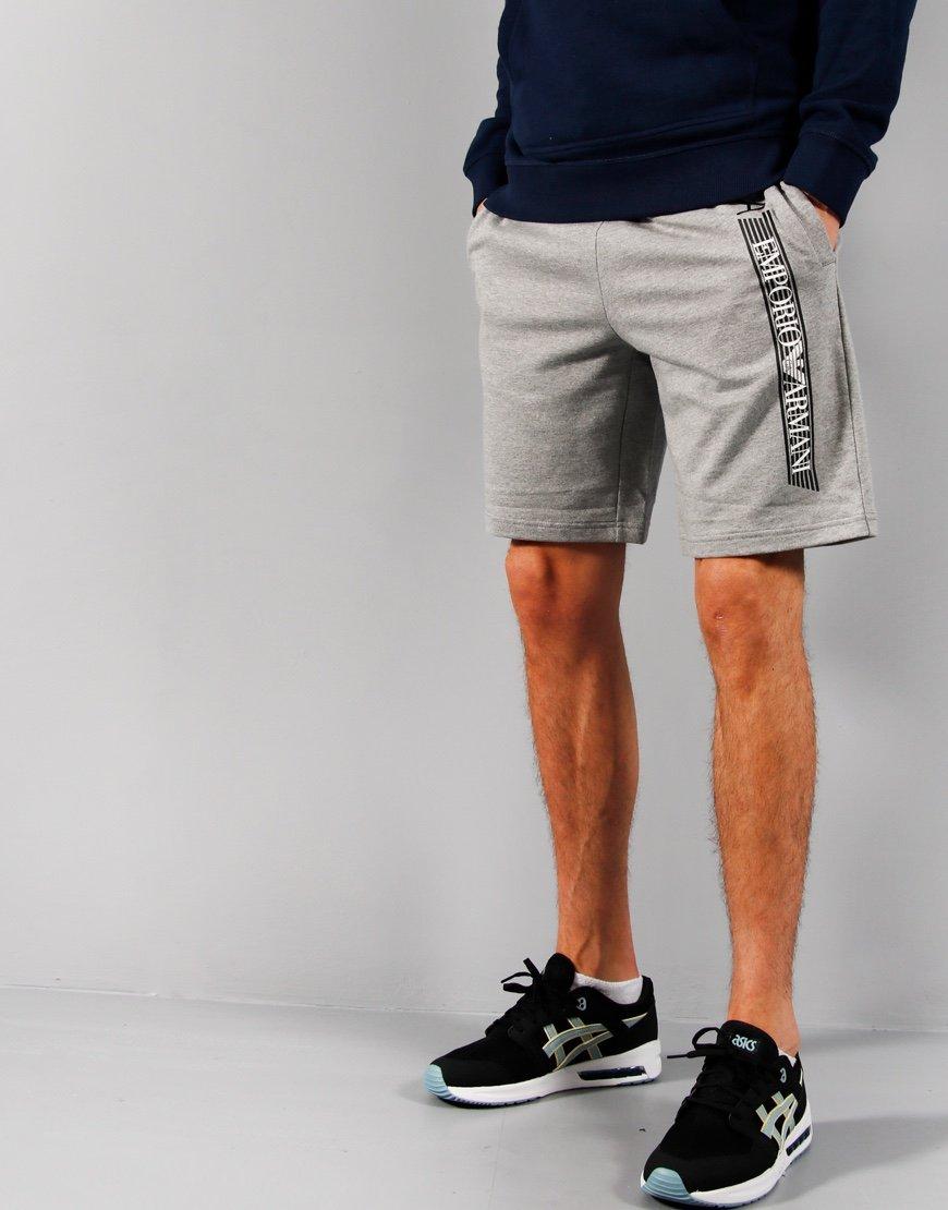 EA7 Jersey Sweat Shorts Mid Grey Melange