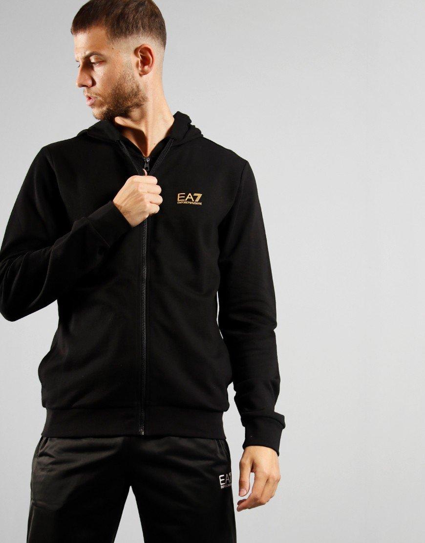 EA7 Core Full Zip Hoodie Black