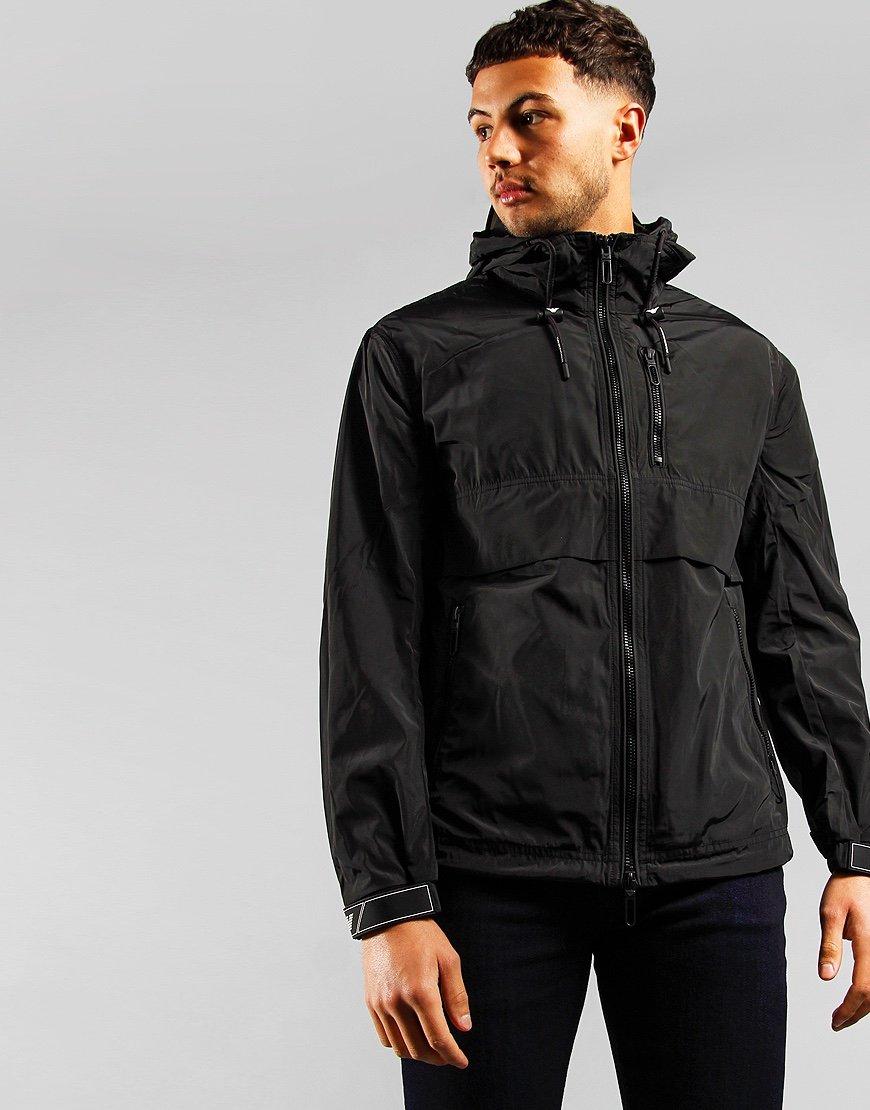 Emporio Armani Packable Hooded Techo Jacket Black