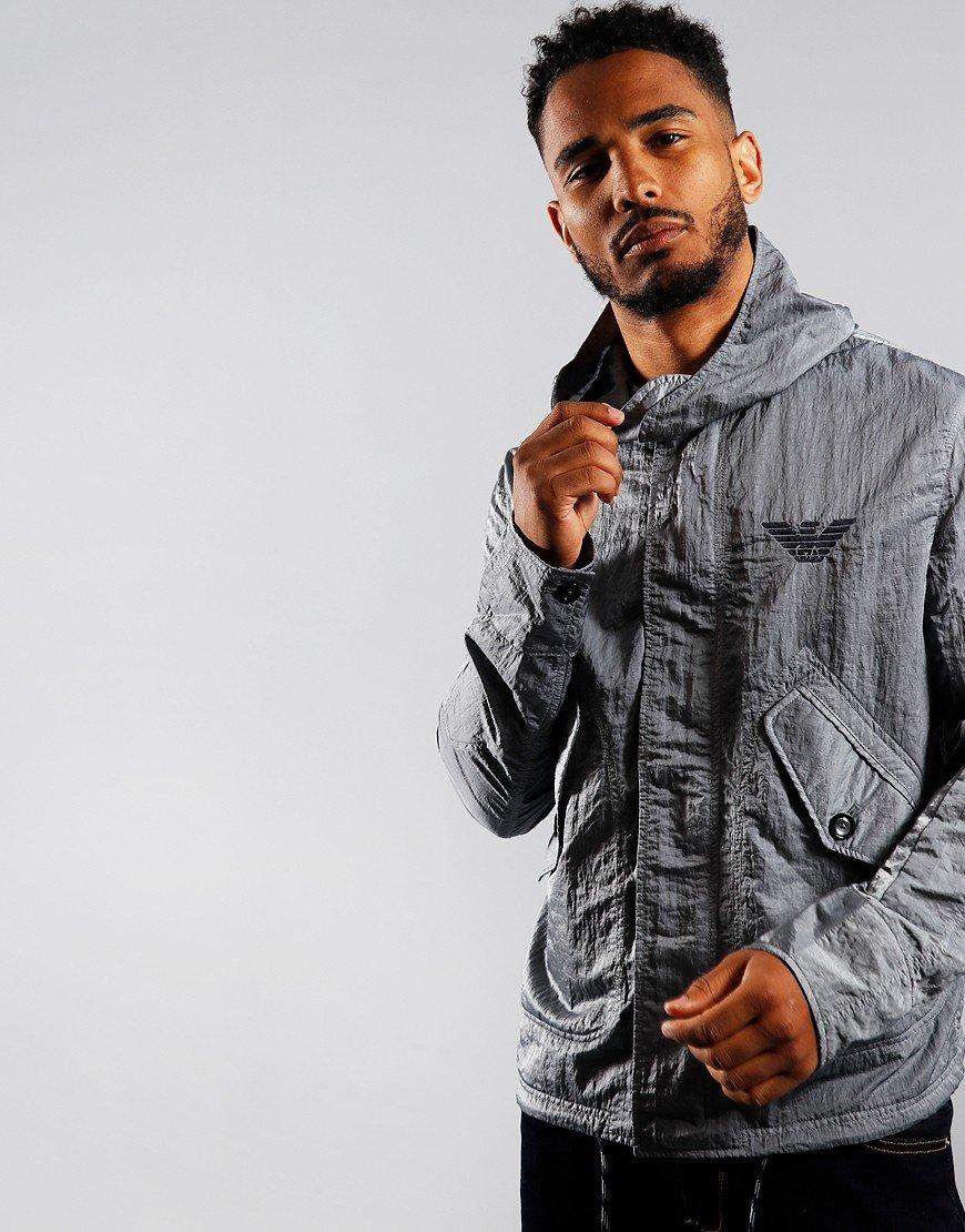 Emporio Armani Hooded Jacket Steel