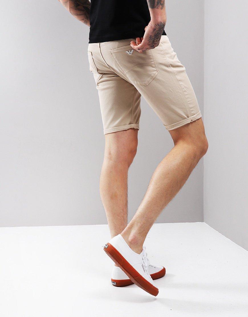Emporio Armani Chino Shorts Bone White