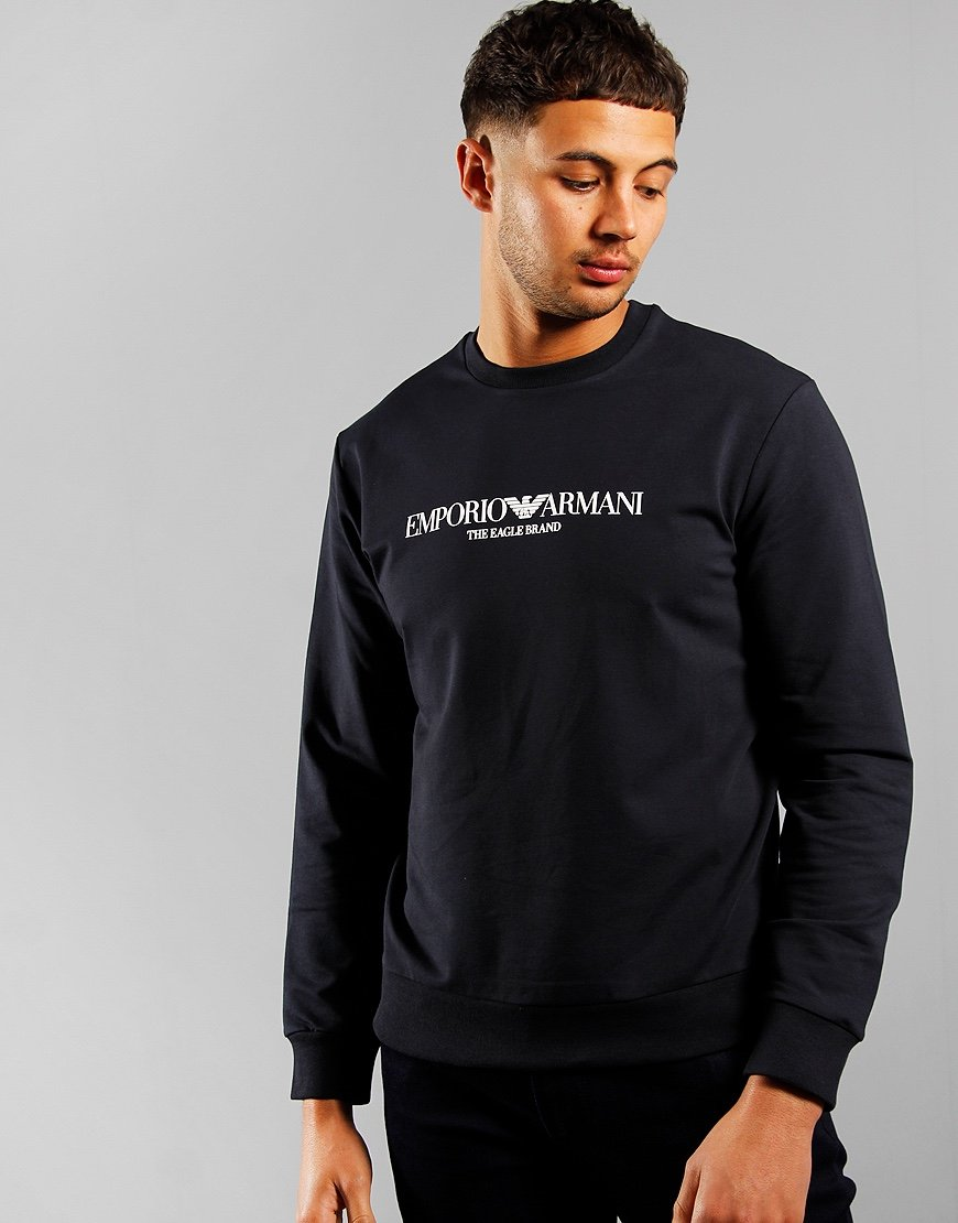 Emporio Armani Eagle Brand Crew Sweat Navy