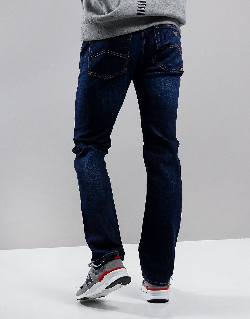 Emporio Armani J45 1V0LZ Regular Fit Jeans Denim Blue