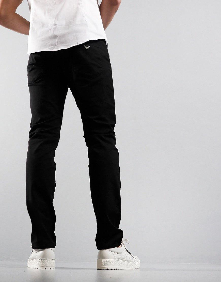Emporio Armani J06 Slim Fit Chinos 1N0LZ Black