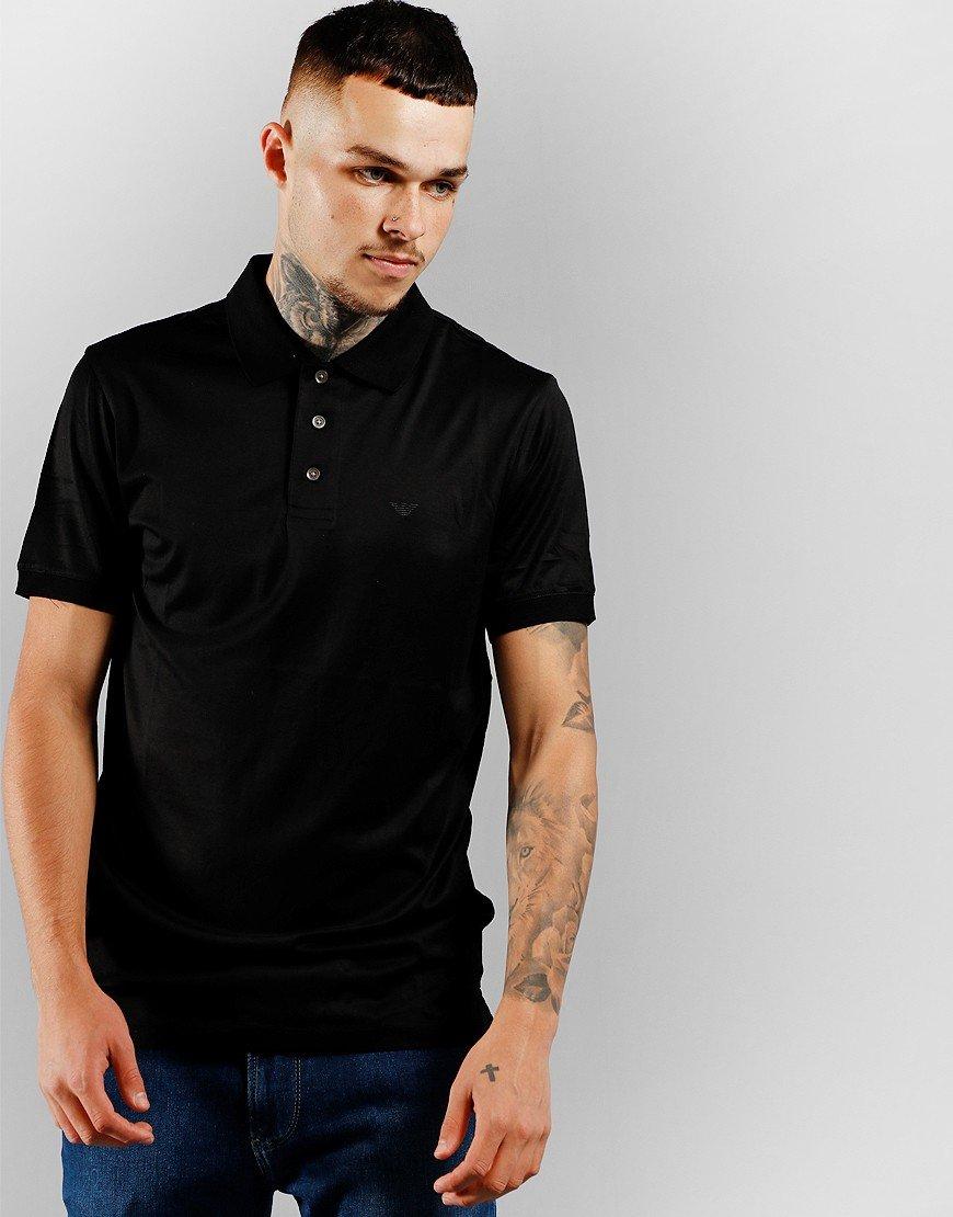 Emporio Armani Jersey Polo Shirt Black