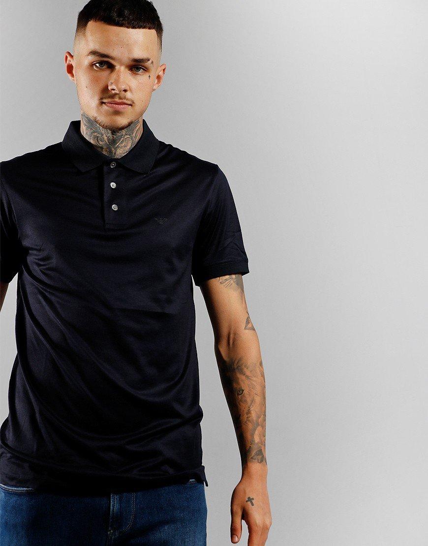 Emporio Armani Jersey Polo Shirt Navy