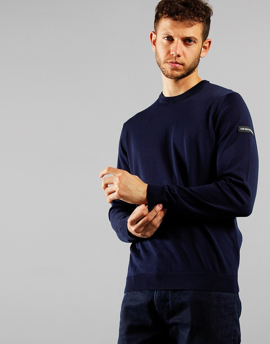 Emporio Armani Arm Patch Sweat Navy