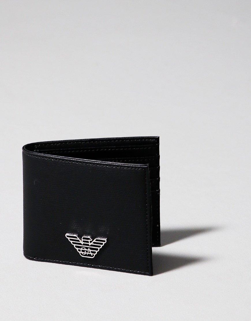 Emporio Armani Bi-Fold Leather Card Wallet Black