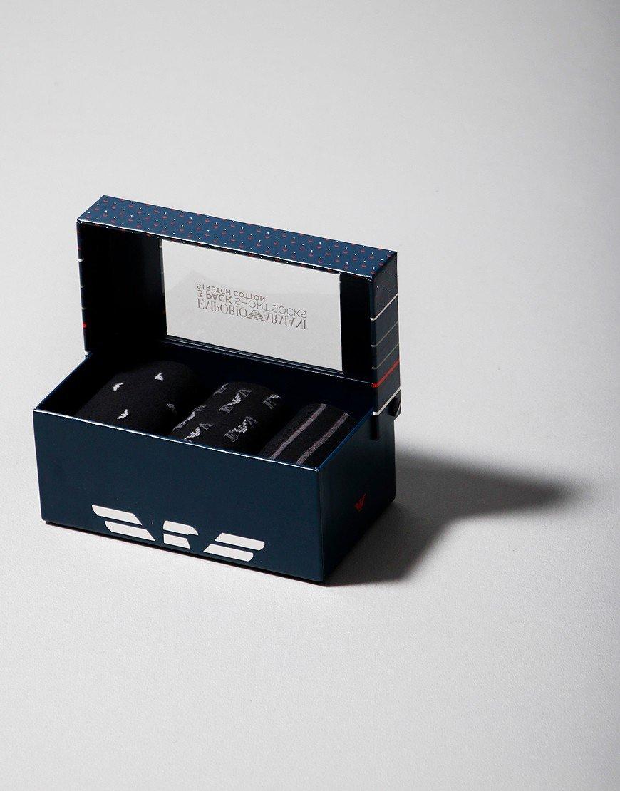 Emporio Armani 3 Pack Socks Black/Grey