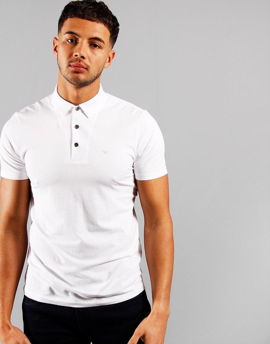 Emporio Armani Soft Polo Shirt Optical White
