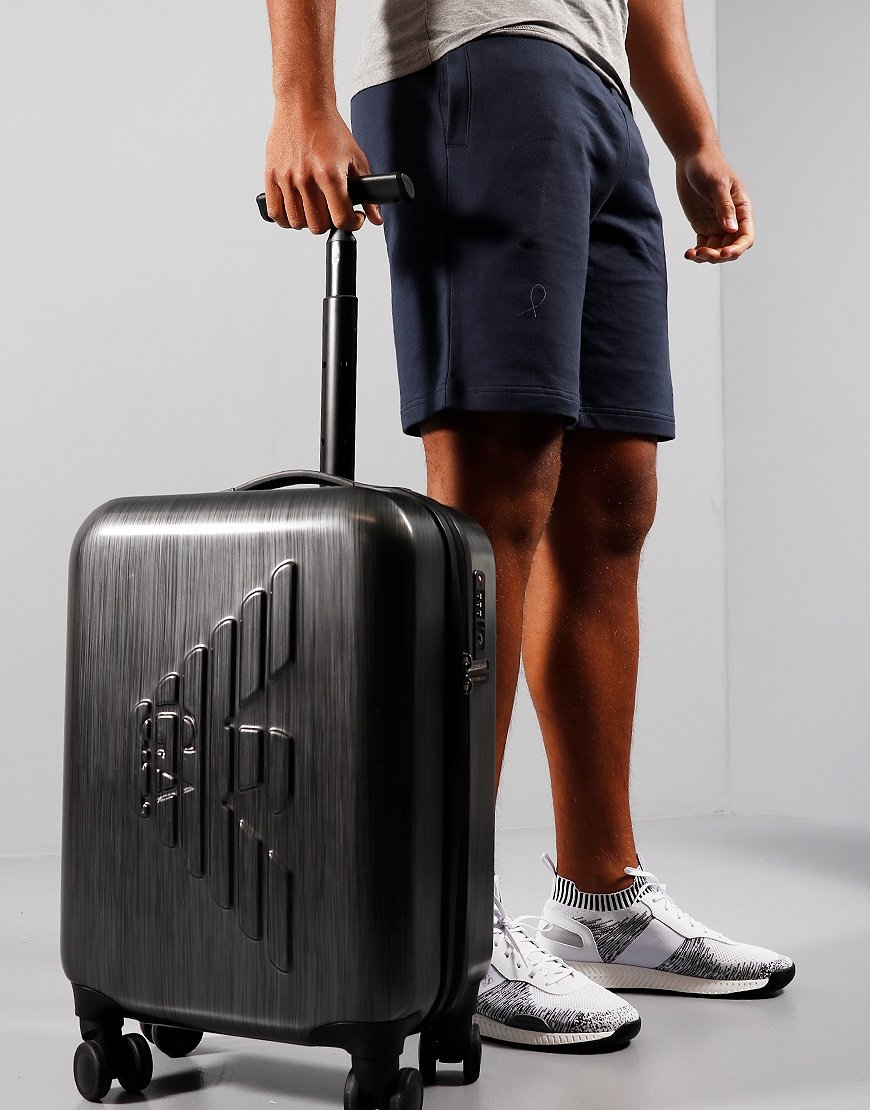 Emporio Armani Embossed Logo Suitcase Grey