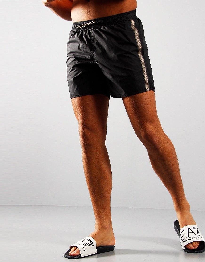 Emporio Armani Tape Swim Shorts Black