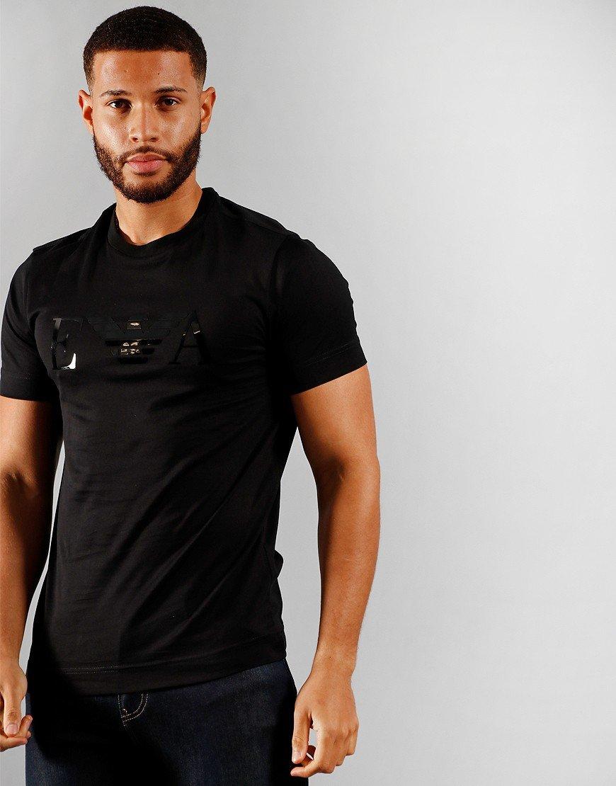 Armani Tonal Logo T-Shirt Black