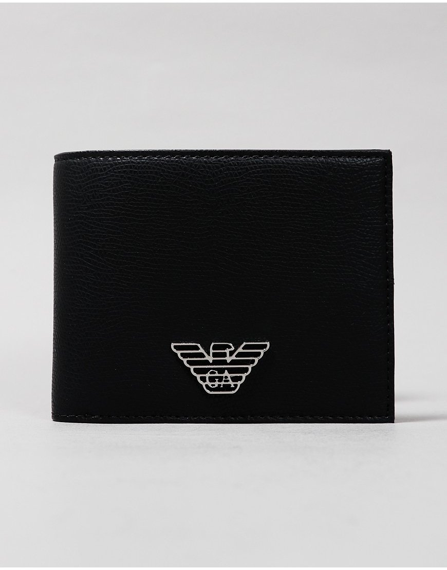 Emporio Armani Bi-Fold Leather Coin Wallet Black