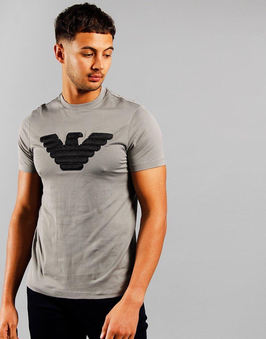 Emporio Armani Stitch Eagle T-shirt Zinc