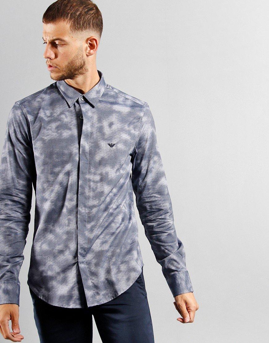 Emporio Armani Woven Shirt Cloudy Blue