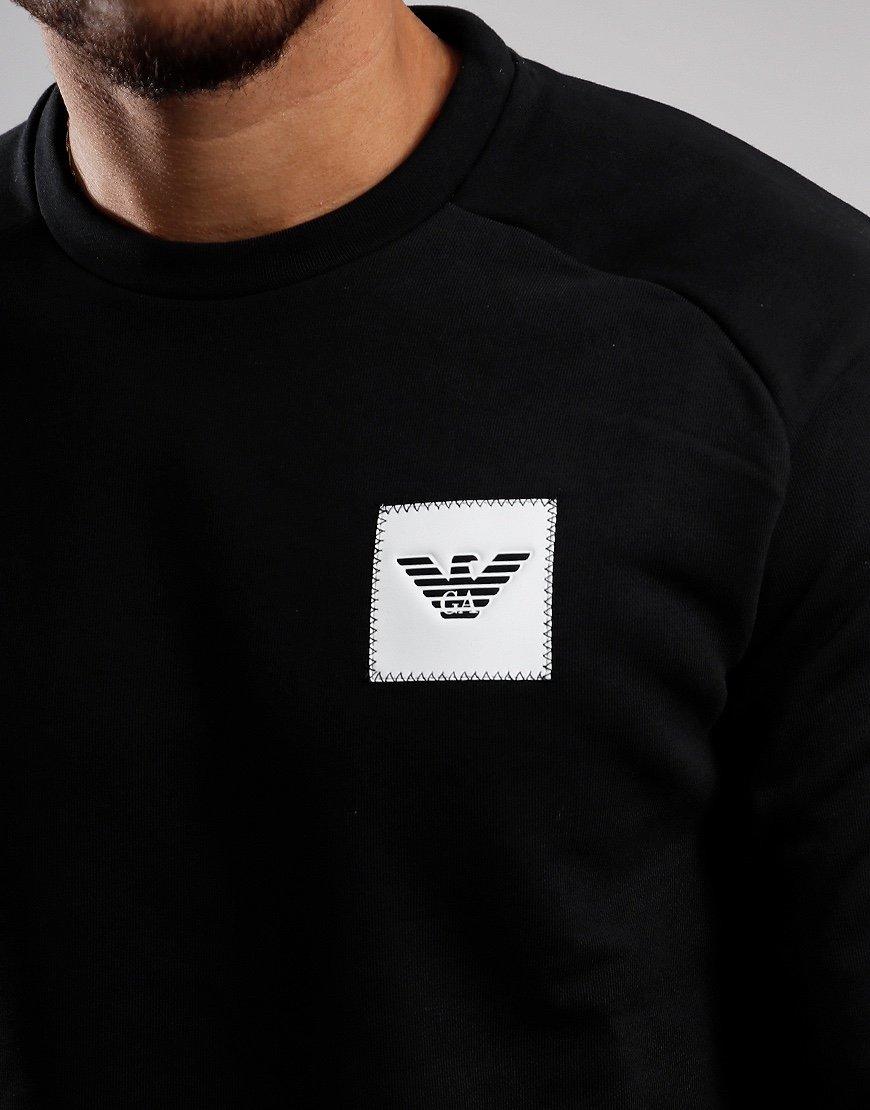Emporio Armani Patch Logo Crew Sweat Black
