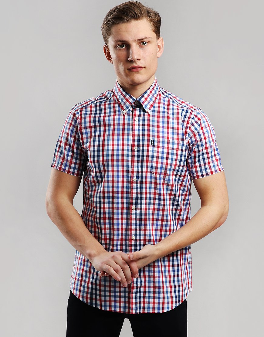 Barbour Tattersall 6 Shirt Red