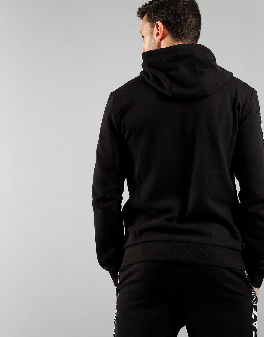 EA7 Arm Logo Front Zip Hoodie Black