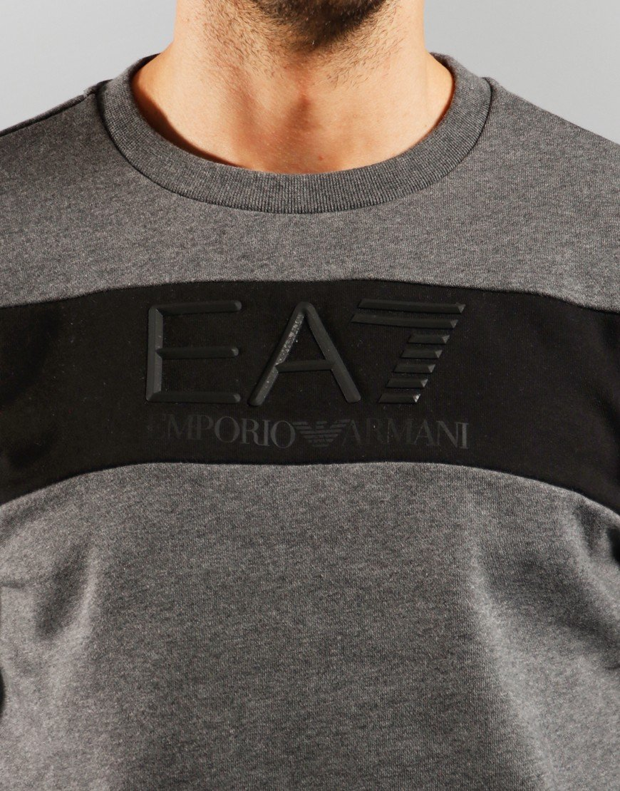 EA7 Black Sweat Dark Grey Melange