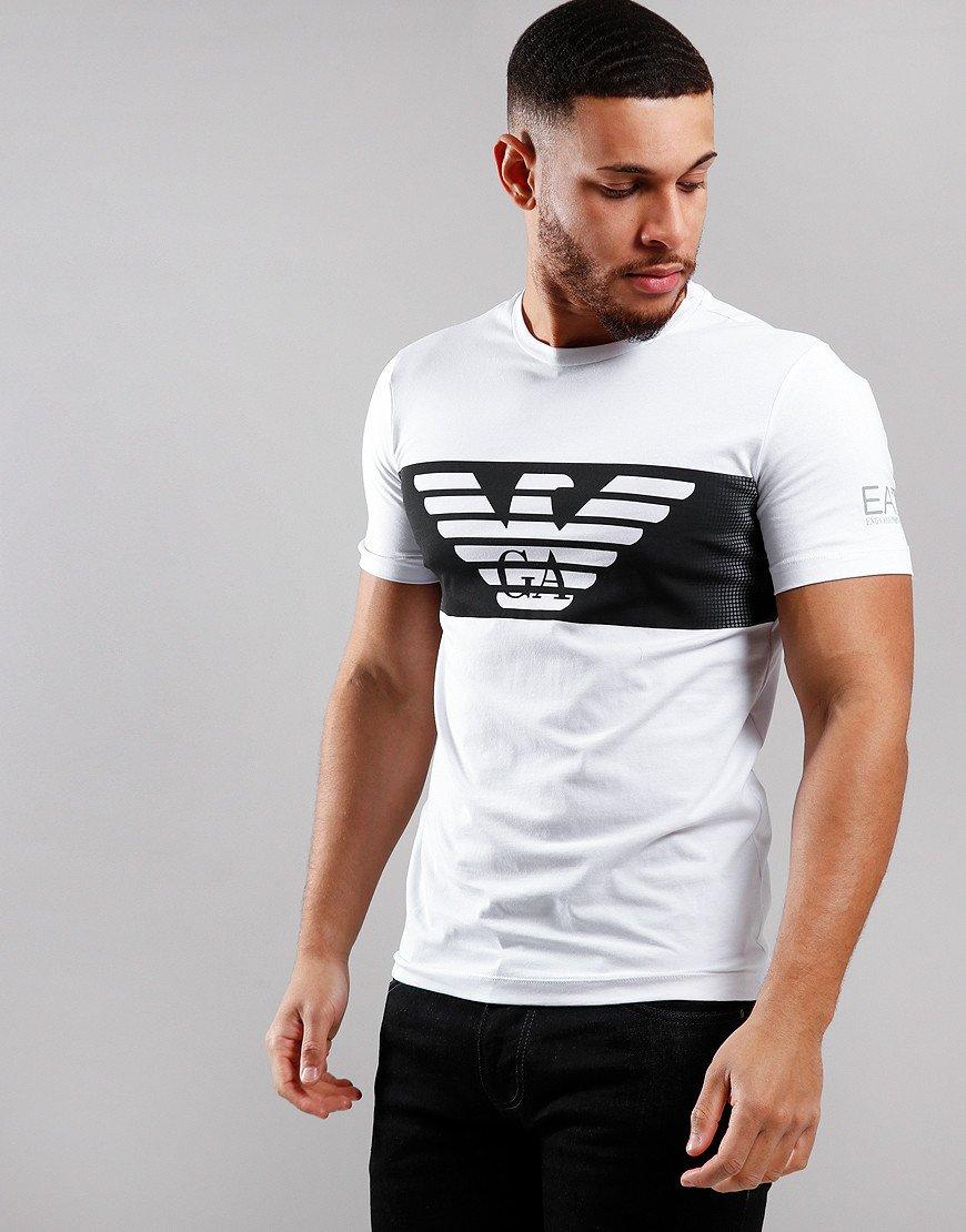 EA7 Block Logo T-Shirt White