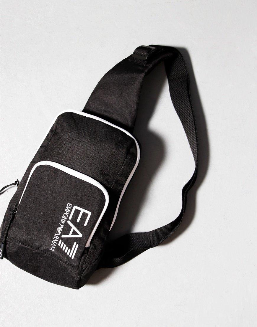 EA7 Tipped Crossbody Bag Black/White
