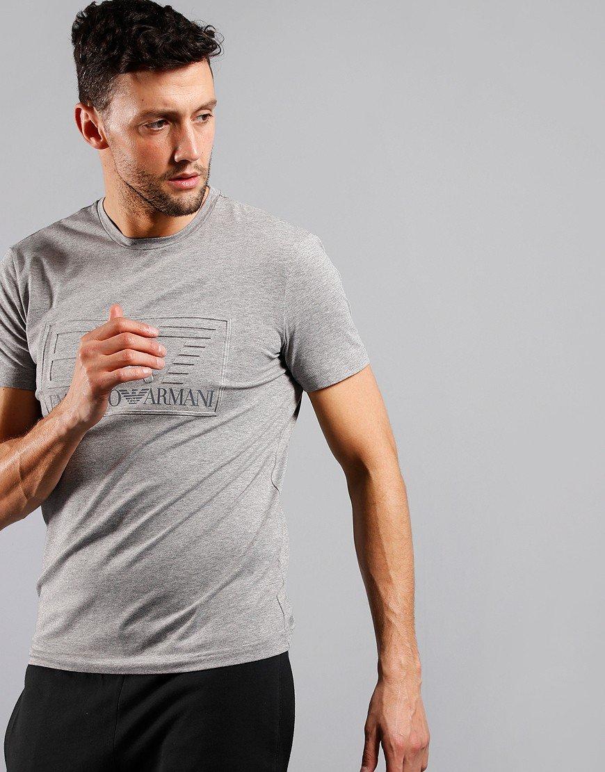 EA7 Emboss Logo T-Shirt Mid Grey Marl
