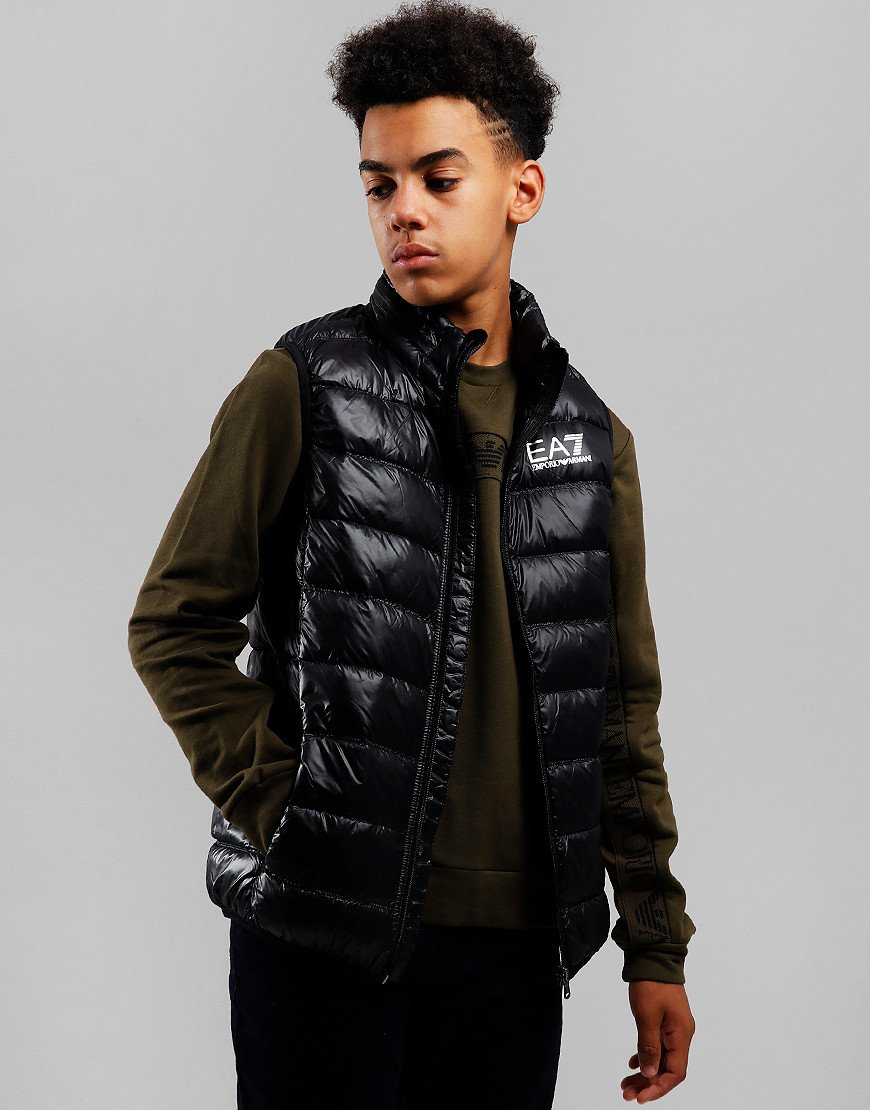 EA7 Kids Down Gilet Black