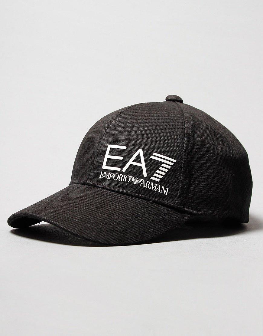 EA7 Large Logo Baseball Cap Black
