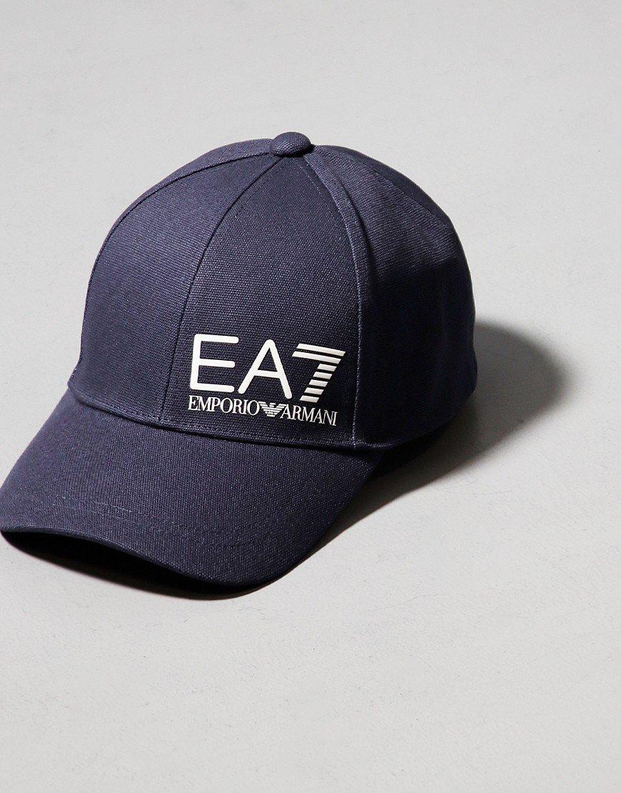 EA7 Large Logo Baseball Cap Night Blue