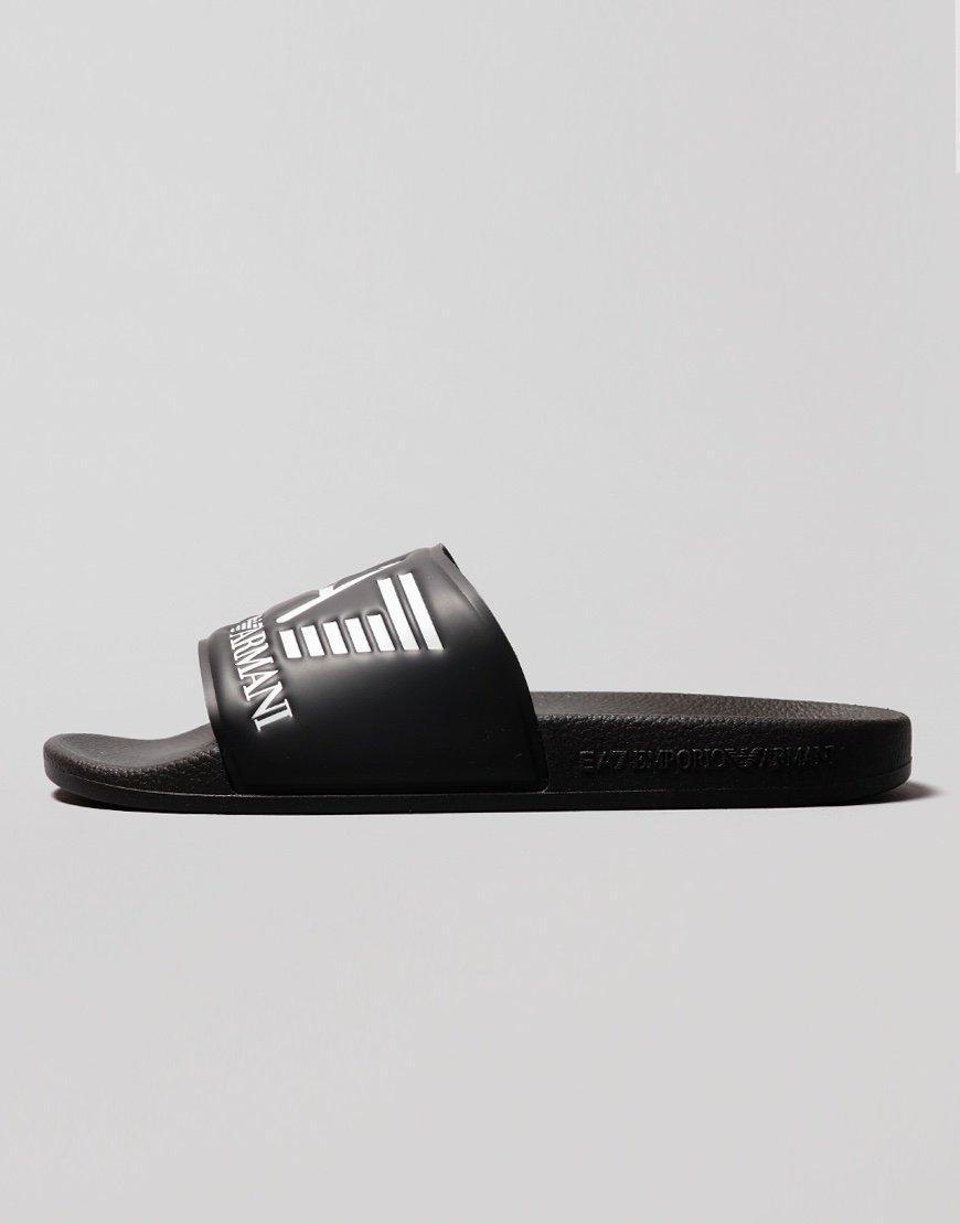 EA7 Poly Slides  Black