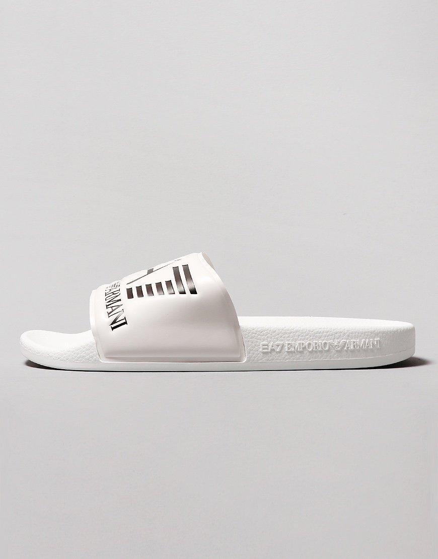EA7 Poly Slides  White