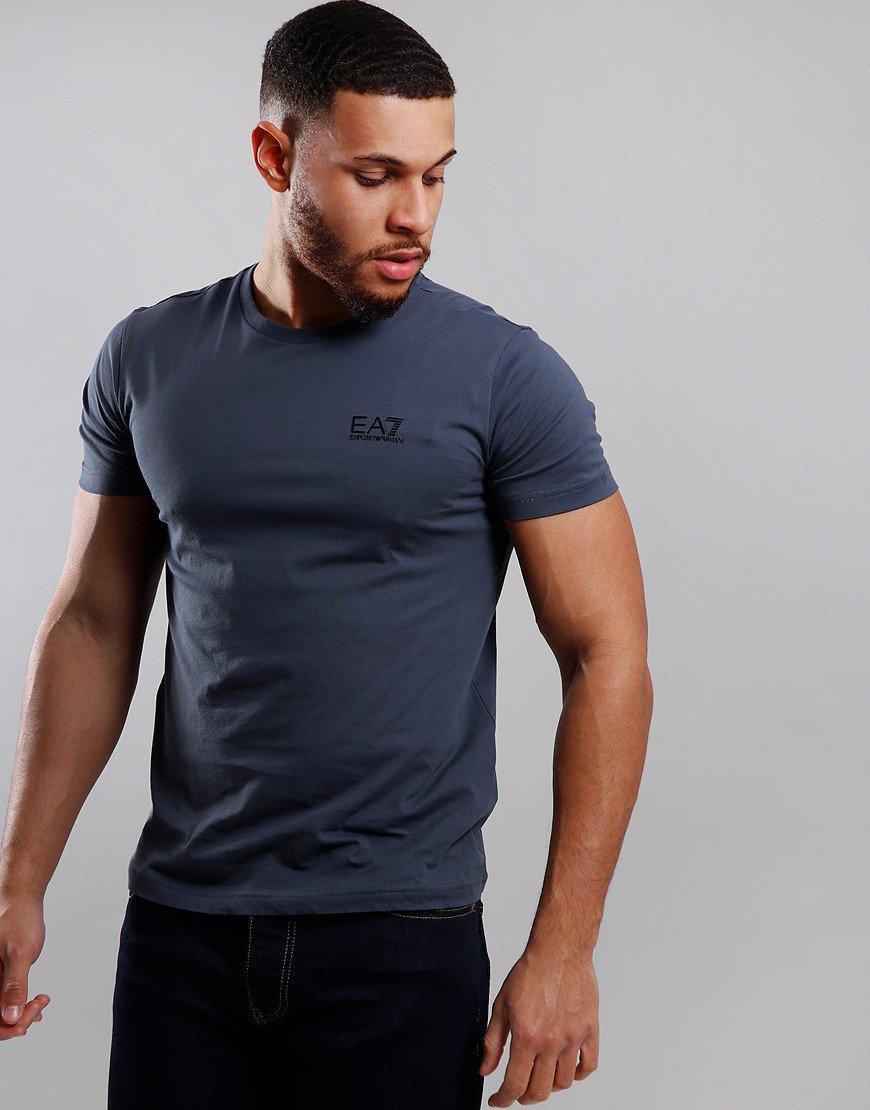 EA7 Small Logo T-Shirt Ombre Blue