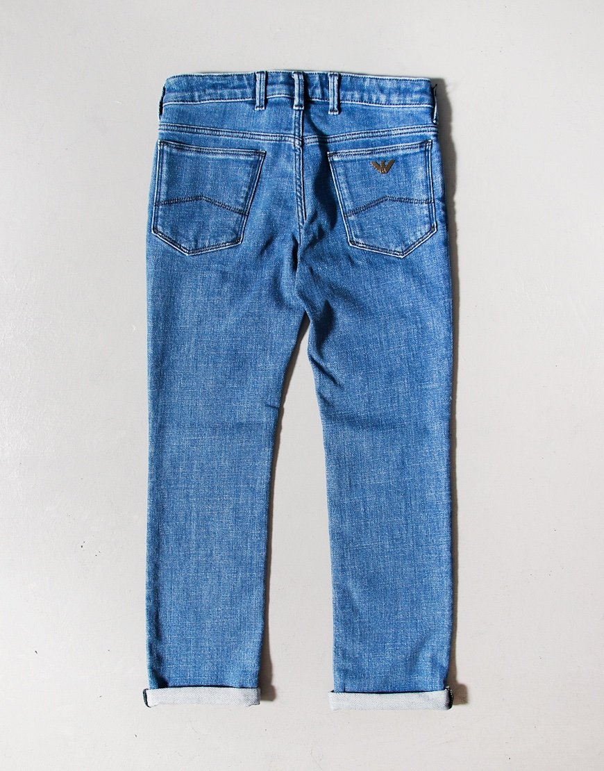 Armani Junior J06 Slim Fit Jeans Mid Wash