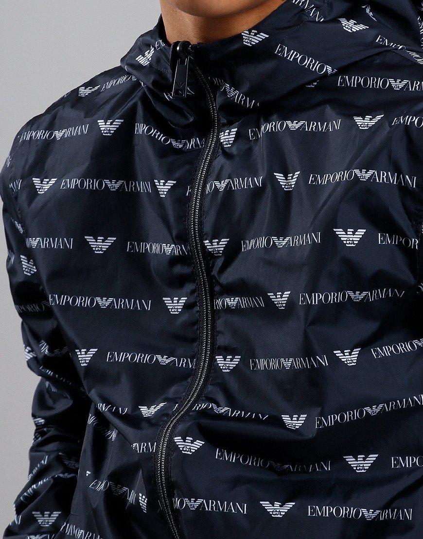 Armani Junior Reversible Jacket Eagle Print Fantasy Blue